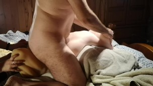 Threesome with sex dolls, torso and anal penetration